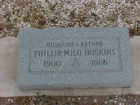 HOSKINS, PHILLIP  MILO - Gila County, Arizona | PHILLIP  MILO HOSKINS - Arizona Gravestone Photos