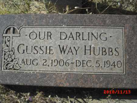 HUBBS, GUSSIE WAY - Gila County, Arizona | GUSSIE WAY HUBBS - Arizona Gravestone Photos