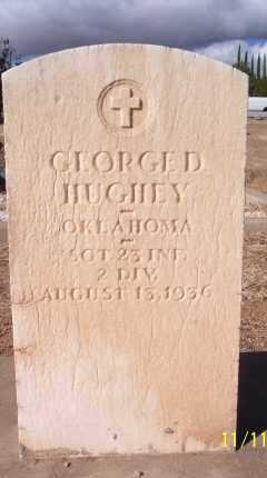HUGHEY, GEORGE DEWEY - Gila County, Arizona | GEORGE DEWEY HUGHEY - Arizona Gravestone Photos