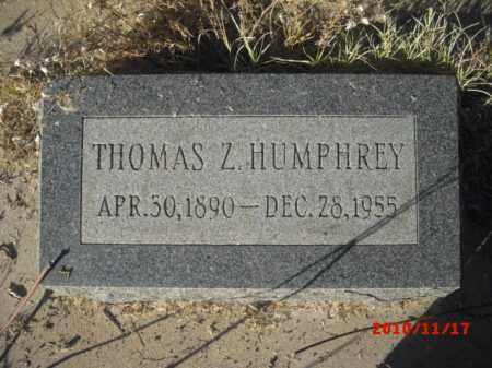 HUMPHREY, THOMAS Z. - Gila County, Arizona | THOMAS Z. HUMPHREY - Arizona Gravestone Photos