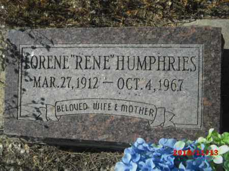 HUMPHRIES, LORENE - Gila County, Arizona | LORENE HUMPHRIES - Arizona Gravestone Photos