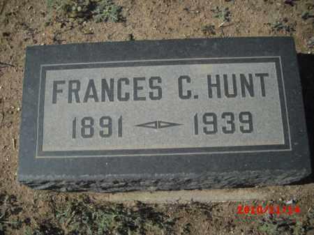 HUNT, FRANCES - Gila County, Arizona | FRANCES HUNT - Arizona Gravestone Photos