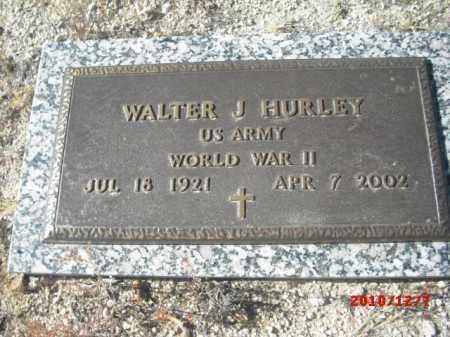 HURLEY, WALTER J. - Gila County, Arizona   WALTER J. HURLEY - Arizona Gravestone Photos