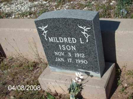 ISON, MILDRED L. - Gila County, Arizona | MILDRED L. ISON - Arizona Gravestone Photos