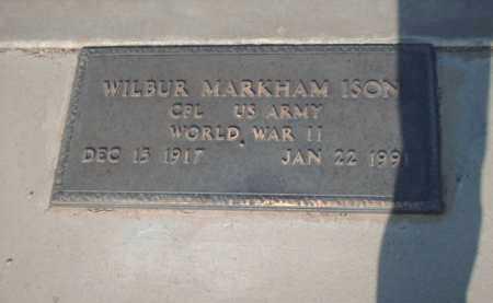 ISON, WILBUR MARKHAM - Gila County, Arizona | WILBUR MARKHAM ISON - Arizona Gravestone Photos