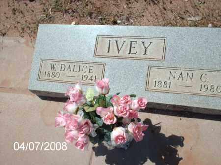 IVEY, W. DALICE - Gila County, Arizona | W. DALICE IVEY - Arizona Gravestone Photos