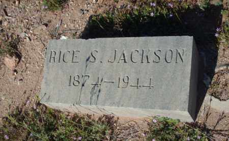 JACKSON, RICE S. - Gila County, Arizona | RICE S. JACKSON - Arizona Gravestone Photos