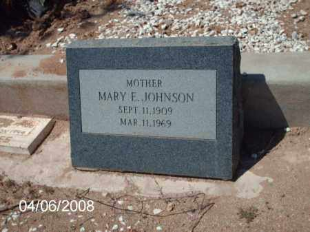 JOHNSON, MARY E. - Gila County, Arizona | MARY E. JOHNSON - Arizona Gravestone Photos
