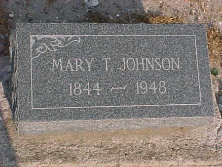JOHNSON, MARY T. - Gila County, Arizona | MARY T. JOHNSON - Arizona Gravestone Photos