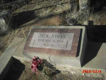 JONAS, JACK - Gila County, Arizona | JACK JONAS - Arizona Gravestone Photos