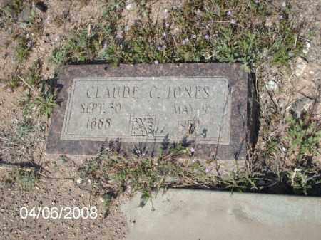 JONES, CLAUDE C. - Gila County, Arizona | CLAUDE C. JONES - Arizona Gravestone Photos