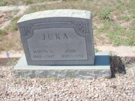 JUKA, MARTIN T. - Gila County, Arizona   MARTIN T. JUKA - Arizona Gravestone Photos