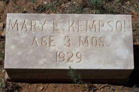 KEMPTON, MARY E. - Gila County, Arizona | MARY E. KEMPTON - Arizona Gravestone Photos