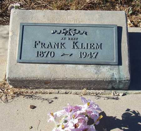 KLIEM, FRANK - Gila County, Arizona   FRANK KLIEM - Arizona Gravestone Photos