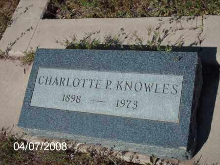 KNOWLES, CHARLOTTE  P. - Gila County, Arizona | CHARLOTTE  P. KNOWLES - Arizona Gravestone Photos