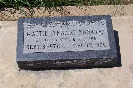 STEWART KNOWLES, MATTIE - Gila County, Arizona | MATTIE STEWART KNOWLES - Arizona Gravestone Photos