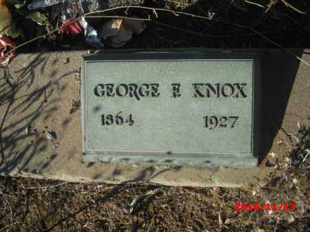 KNOX, GEORGE F. - Gila County, Arizona | GEORGE F. KNOX - Arizona Gravestone Photos