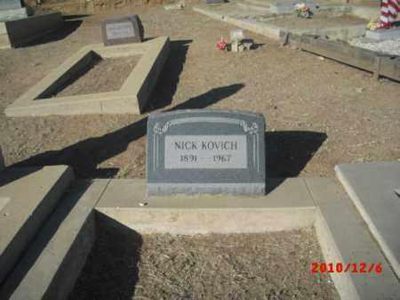 KOVICH, NICK - Gila County, Arizona | NICK KOVICH - Arizona Gravestone Photos
