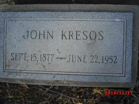 KRESOS, JOHN - Gila County, Arizona   JOHN KRESOS - Arizona Gravestone Photos