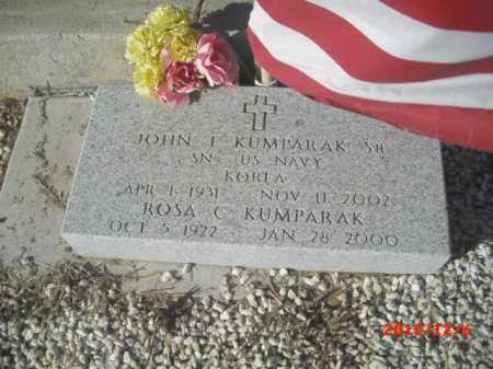KUMPARAK, JOHN, SR. - Gila County, Arizona | JOHN, SR. KUMPARAK - Arizona Gravestone Photos