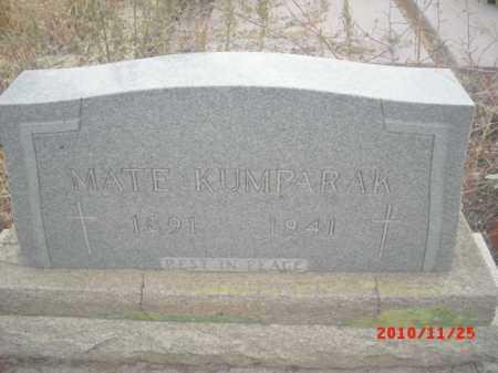 KUMPARAK, MATE - Gila County, Arizona   MATE KUMPARAK - Arizona Gravestone Photos