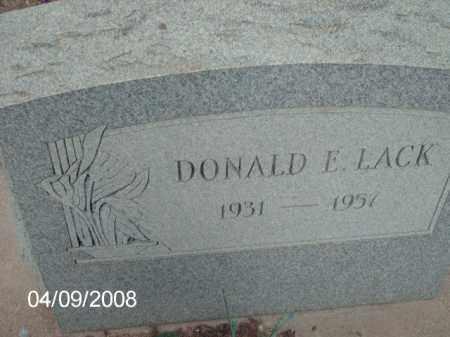 LACK, DONALD E. - Gila County, Arizona   DONALD E. LACK - Arizona Gravestone Photos