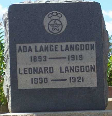 LANGE LANGDON, ADA - Gila County, Arizona | ADA LANGE LANGDON - Arizona Gravestone Photos