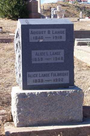 LANGE, ALICE L. - Gila County, Arizona | ALICE L. LANGE - Arizona Gravestone Photos
