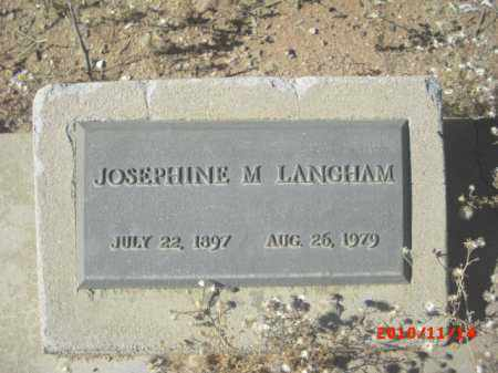 LANGHAM, JOSEPHINE M. - Gila County, Arizona | JOSEPHINE M. LANGHAM - Arizona Gravestone Photos