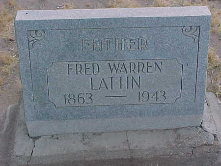 LATTIN, FRED WARREN - Gila County, Arizona | FRED WARREN LATTIN - Arizona Gravestone Photos