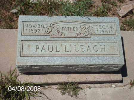 LEACH, PAUL L. - Gila County, Arizona | PAUL L. LEACH - Arizona Gravestone Photos