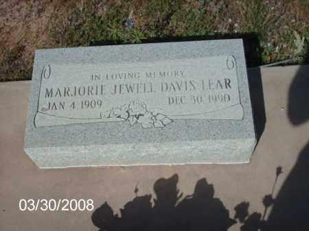 LEAR, MARJORIE JEWELL DAVIS - Gila County, Arizona | MARJORIE JEWELL DAVIS LEAR - Arizona Gravestone Photos