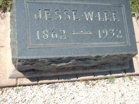 LEE, JESSE W. - Gila County, Arizona   JESSE W. LEE - Arizona Gravestone Photos