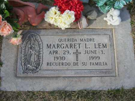LEM, MARGARET L. - Gila County, Arizona | MARGARET L. LEM - Arizona Gravestone Photos