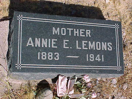 LEMONS, ANNIE  E. - Gila County, Arizona | ANNIE  E. LEMONS - Arizona Gravestone Photos