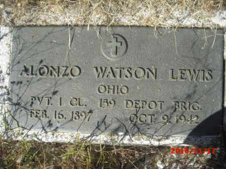LEWIS, ALONZO WATSON - Gila County, Arizona | ALONZO WATSON LEWIS - Arizona Gravestone Photos