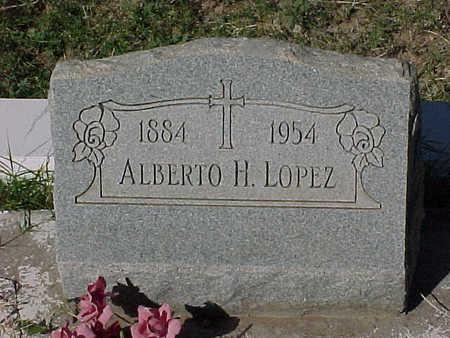 LOPEZ, ALBERTO  H. - Gila County, Arizona   ALBERTO  H. LOPEZ - Arizona Gravestone Photos