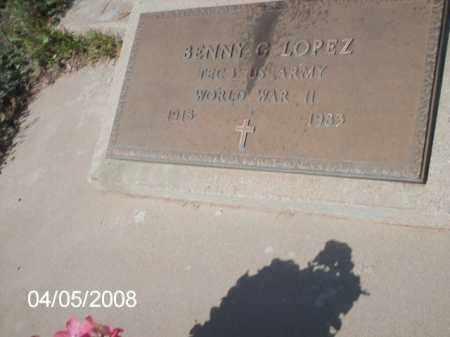 LOPEZ, BENNY  G. - Gila County, Arizona   BENNY  G. LOPEZ - Arizona Gravestone Photos