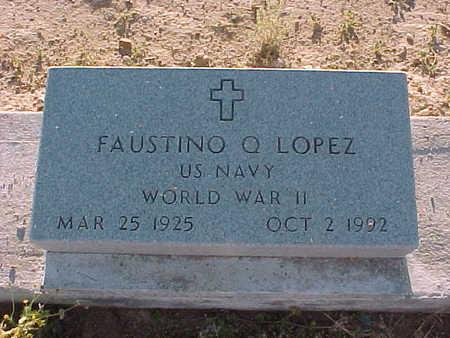 LOPEZ, FAUSTINO  Q. - Gila County, Arizona | FAUSTINO  Q. LOPEZ - Arizona Gravestone Photos