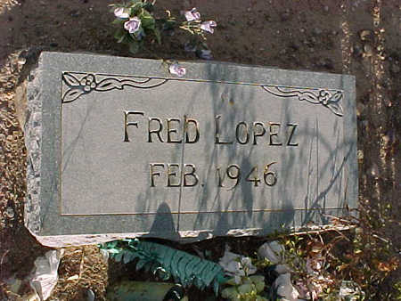 LOPEZ, FRED - Gila County, Arizona   FRED LOPEZ - Arizona Gravestone Photos