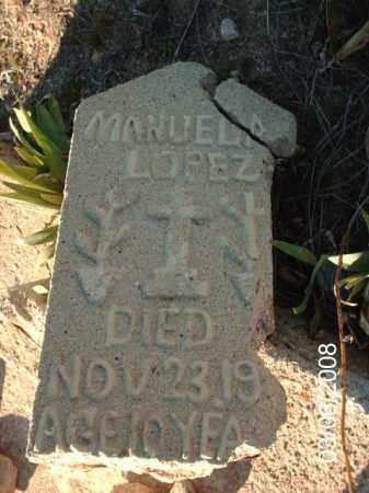 LOPEZ, MANUELA - Gila County, Arizona   MANUELA LOPEZ - Arizona Gravestone Photos