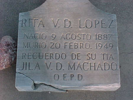 LOPEZ, RITA  V. D. - Gila County, Arizona | RITA  V. D. LOPEZ - Arizona Gravestone Photos