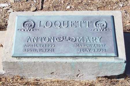 LOQUETT, ANTON - Gila County, Arizona | ANTON LOQUETT - Arizona Gravestone Photos
