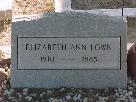 LOWN, ELIZABETH  ANN - Gila County, Arizona | ELIZABETH  ANN LOWN - Arizona Gravestone Photos