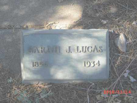 LUCAS, SARAH J. - Gila County, Arizona   SARAH J. LUCAS - Arizona Gravestone Photos