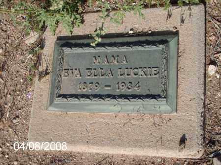 LUCKIE, EVA ELLA - Gila County, Arizona   EVA ELLA LUCKIE - Arizona Gravestone Photos