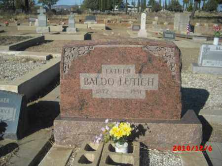 LUTICH, BALDO - Gila County, Arizona | BALDO LUTICH - Arizona Gravestone Photos