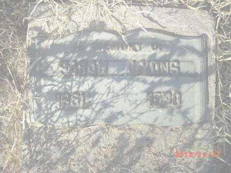 LYONS, SARAH - Gila County, Arizona | SARAH LYONS - Arizona Gravestone Photos