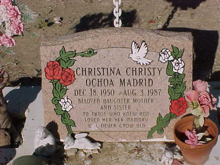"OCHOA MADRID, CHRISTINA ""CHRISTY"" - Gila County, Arizona 