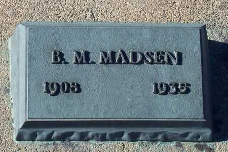 MADSEN, B.M. - Gila County, Arizona | B.M. MADSEN - Arizona Gravestone Photos
